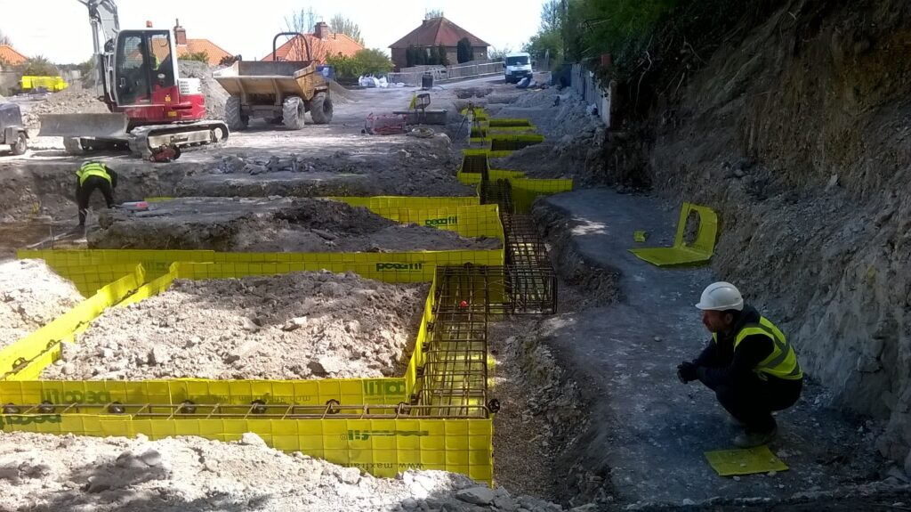 Foundations going in for new care home construction in Eastbourne